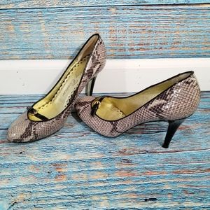 Juicy Couture Genuine Snakeskin Stiletto Heels 9